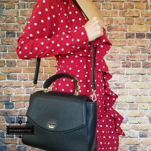 Kate spade kim murray black crossbody satchel bag